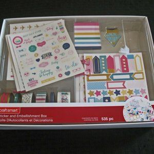 Planner Stickers And Embellishment Box Craft Smart